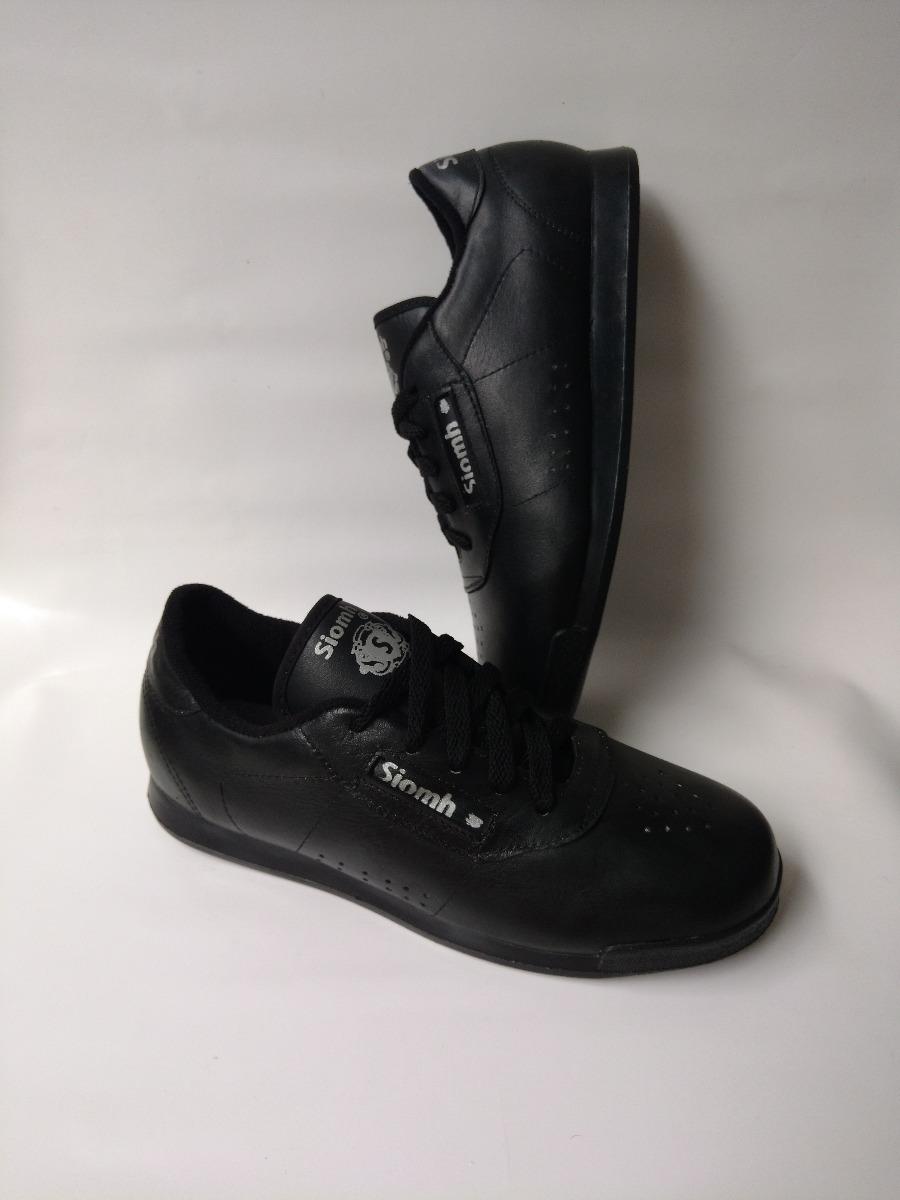 54e8b7228df zapato deportivo negro tenis para el colegio escuela cuero. Cargando zoom.