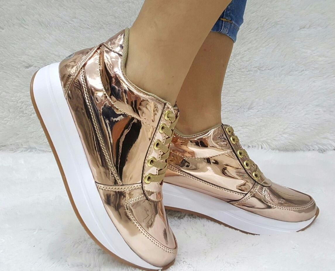 dd3a9dd39b4 zapato deportivo oro rosa mujer moda colombia calzado dama. Cargando zoom.