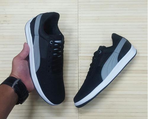 zapato deportivo para hombre negro gris de moda envío gratis