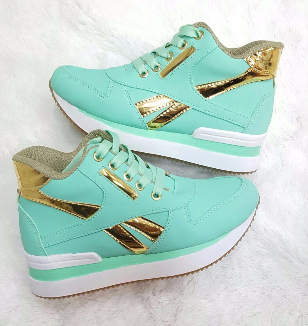 c9df91580d5 Zapato deportivo verde oro moda colombia calzado tenis mujer cargando zoom  jpg 1060x1121 Zapatos de moda