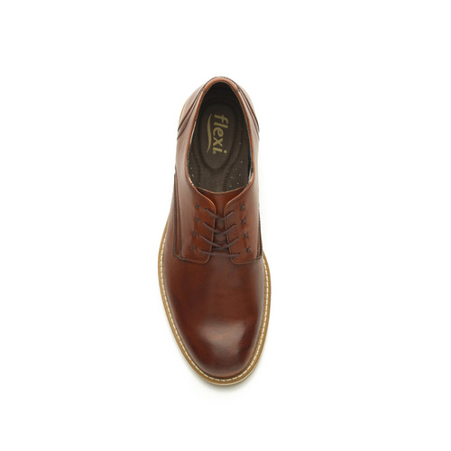 zapato derby flexi caballero 92401 tan