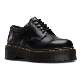 Zapato Drmartens Plataform 8053 Quad Polished Smooth Negro