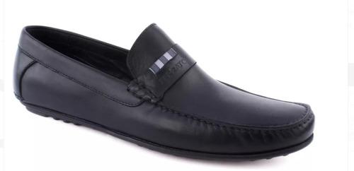 zapato elegante flat mocasín hombre negro 2268446
