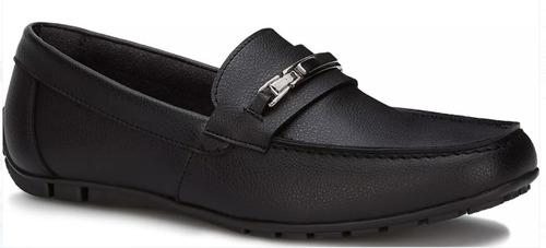 zapato elegante flat mocasín hombre negro 2562186