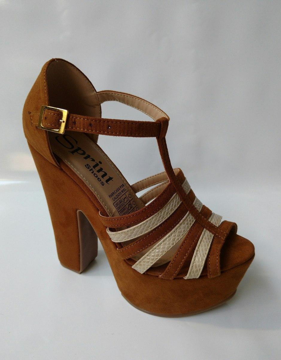 7b4fc213 zapato en plataforma calzado tacon miel dama envio gratis. Cargando zoom.