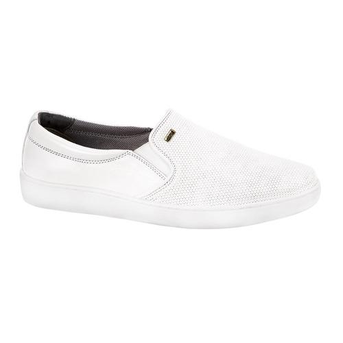 zapato enfermera confort mujer flexi blanco piel co166 a