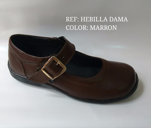 zapato escolar dama cafe marron mafalda cuero envio gratis