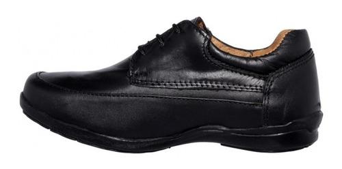 zapato escolar de calidad niño piel negro marca hurt