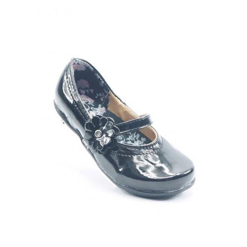 zapato escolar de niña piel negro marca vanessa