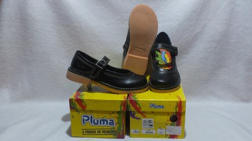 zapato escolar negro de niña nº 34  pluma cuero