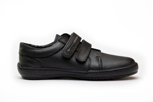 zapato escolar unisex pocholín cierre mágico negro