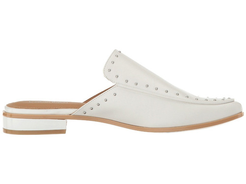 zapato feminino babucha calvin klein blanco de cuero 37