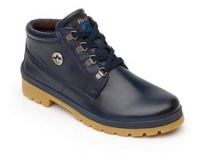 Zapato Flexi Azul Dama Botín Casual 46811