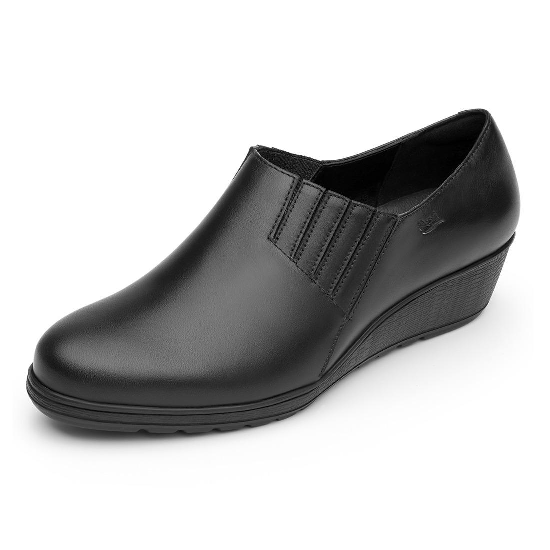 999e2bd068c Dama Casual Cómodo Mujer Zoom Negro Marissa Flexi Rudos Cargando Zapato  PqxCEw5gU