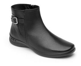 Zapato Flexi Negro Dama Botín Casual 48324