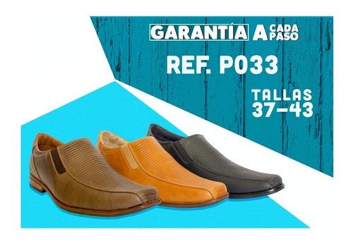 zapato formal elegante para hombre 100% cuero ref p033