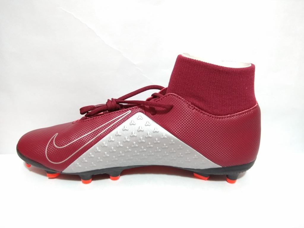 Zapato Fútbol Nike Phantom Vsn Club Color Vino Envío Gratis