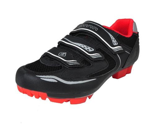 zapato gavin mtb montaña ciclismo tenis spd flexible negro