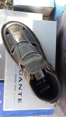 zapato guante 100% cuero color gris n° 43.