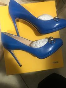 71a76946334 Zapato Gucci Azul Piel 37 Nuevo Con Pequeñas Marcas En Suela