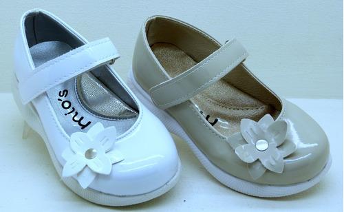 e227b1033 Zapato Guillermina Bautismo Comunion Fiesta Nena Blanco 22 6 -   550 ...