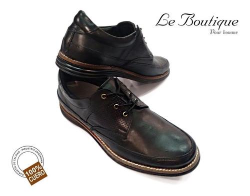 zapato hombre 100% cuero negro foot notes 1120 hot sale