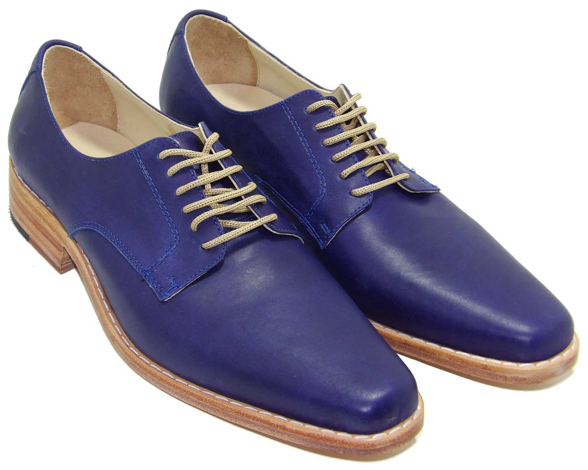 c68fc557 zapato hombre acordanado suela azul cuero - calzados union. Cargando zoom.