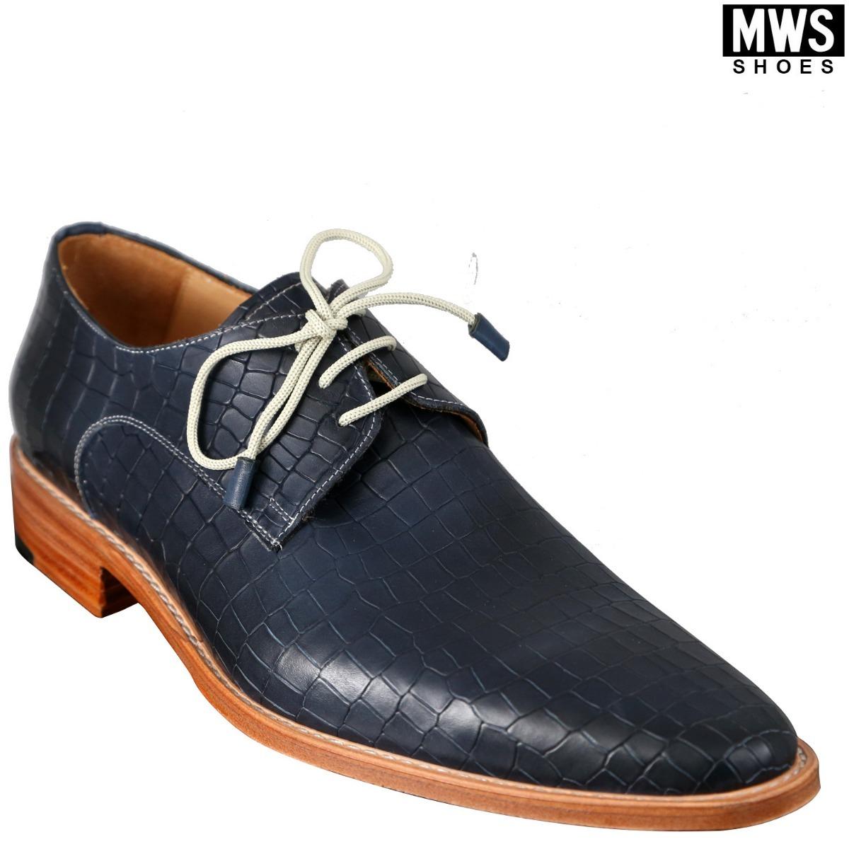 1ba17821 Zapato Hombre Azul Croco Con Base Color Suela - $ 4.400,00 en ...