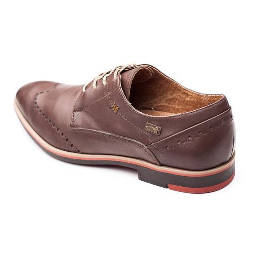 zapato hombre cuero chocolate pato pampa -picado-