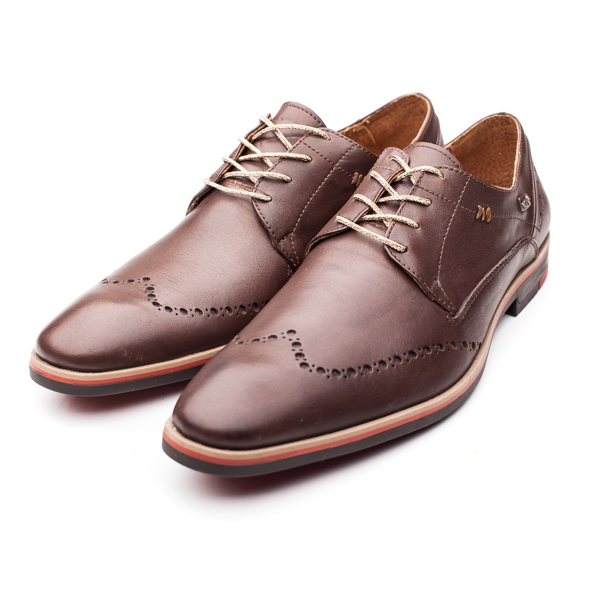 Chaussure Homme Cuir Chocolat Pato Pampa Picado $ 2,699.10 Dans
