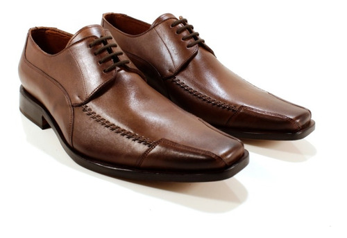 zapato hombre cuero color marrón diseño alonzo by ghilardi.
