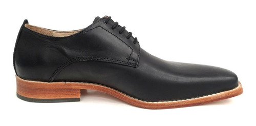 zapato hombre cuero de vestir con base de suela puerto blue