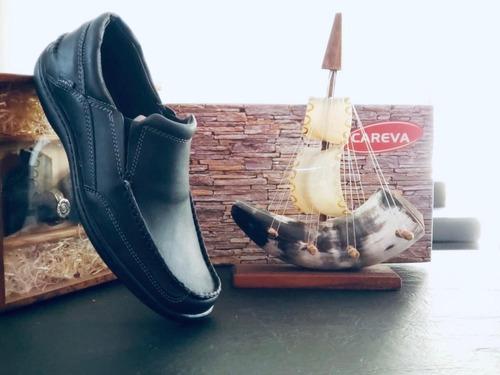 zapato hombre cuero nautico careva 3020 marron