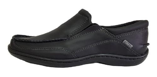 zapato hombre cuero nautico careva 3020 neg (talle especial)
