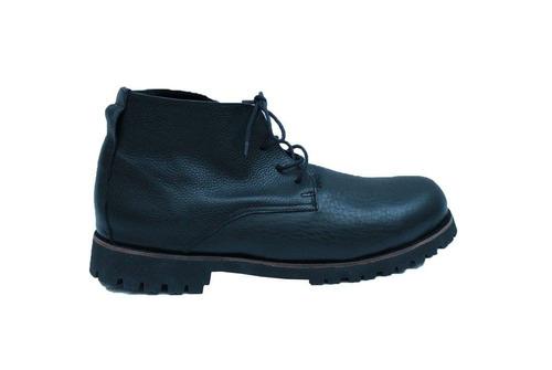zapato hombre cuero negro simil borcego talle 42
