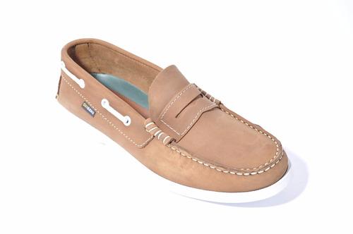zapato hombre de cuero, oxigeno art: 656  mocasin náutico