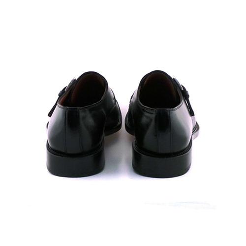 zapato hombre hebilla suela cuero briganti negro - hccz00093