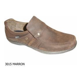Zapato Hombre Nautico Cuero Base Febo Cosida Careva 3015 Mar