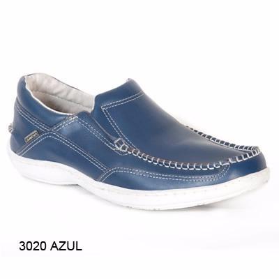 zapato hombre nautico cuero base febo cosida careva 3020 azu