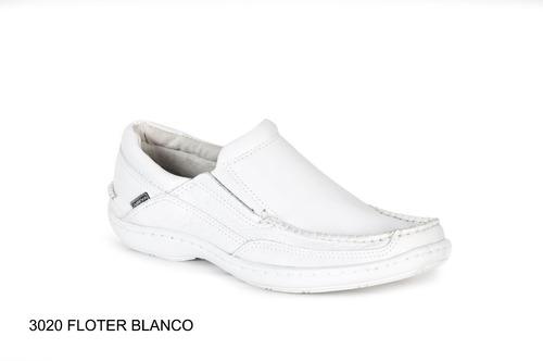 zapato hombre nautico cuero base febo cosida careva 3020 bla