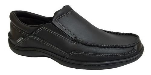 zapato hombre nautico cuero careva 3020 negr(talle especial)