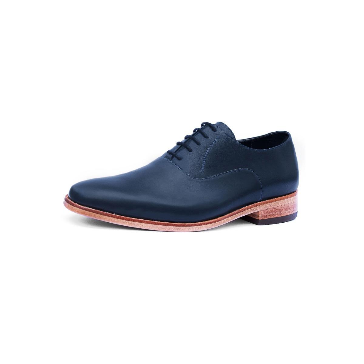 fd7a65e760da9 Zapato Hombre Plano Cuero Azul Diseño Grey Suela Cuero -   85.000 en ...
