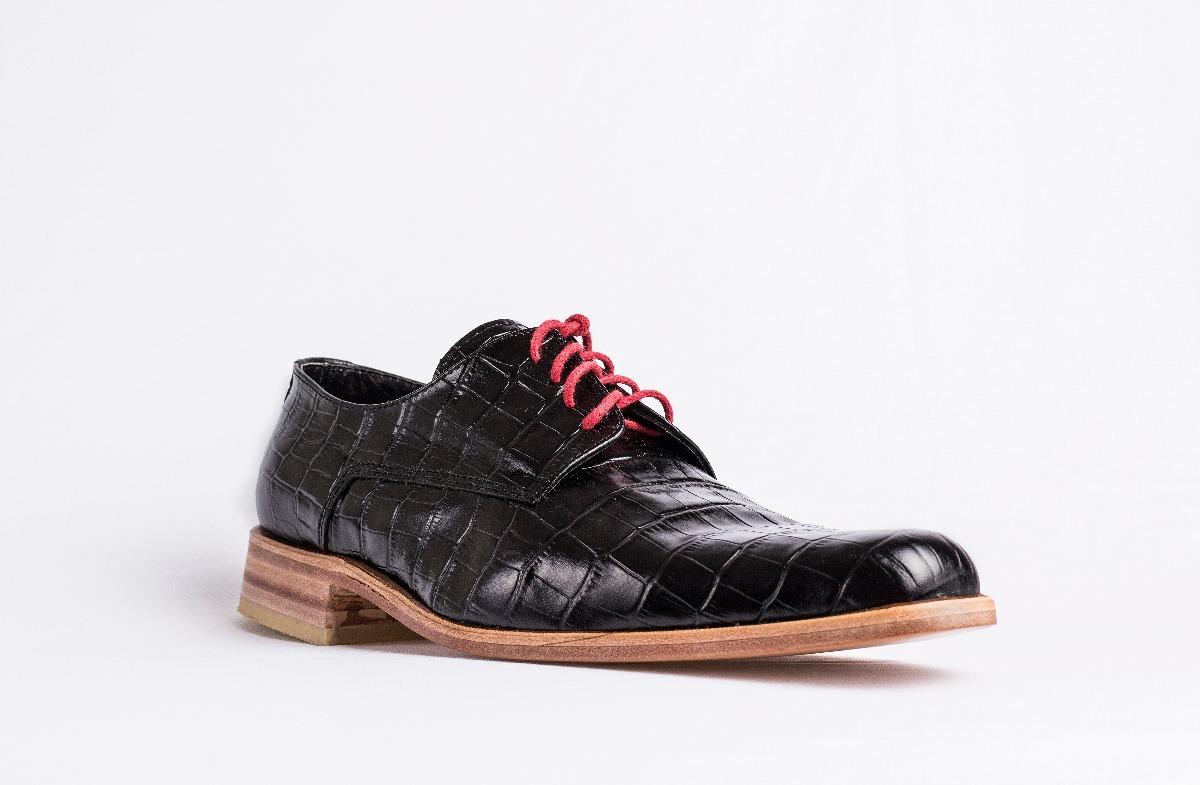 de67d907672 zapato hombre suela sport cuero cocodrilo negro azul suela. Cargando zoom.