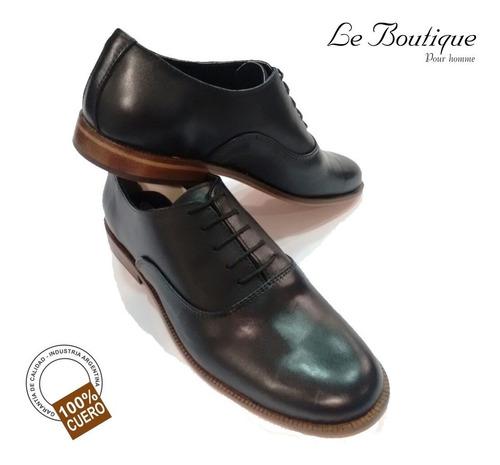 zapato hombre vestir 100%cuero footnotes negro 126  hot sale