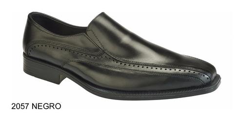 zapato hombre vestir cuero base goma careva 2057 negro