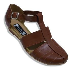 sitio web para descuento amplia selección muy agradable Zapato Huarache Tipo Piel Con Tacón Flat Mujer Empeine Alto