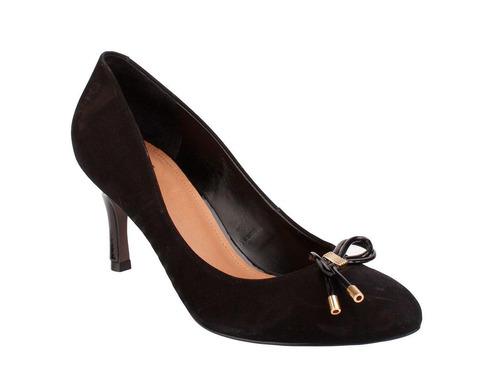 zapato hush puppies cuero farah negro