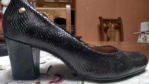 zapato hush puppies leather bellocci negro