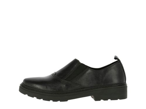 zapato hush puppies leather crono negro