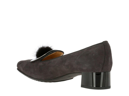 zapato hush puppies suede camogli gris